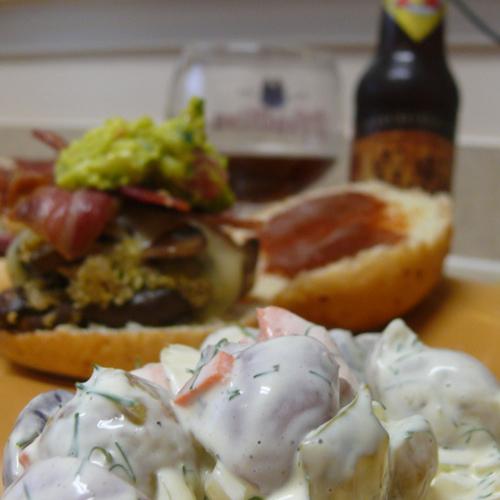 "The ""Not So"" Mushroom Veggie Burger"