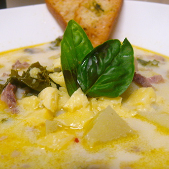 Italian Potato Soup with Leeks and Pancetta