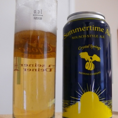 Beer Tasting:  Crystal Springs Brewing Company (Summertime Ale, Marilyn, and Solano)