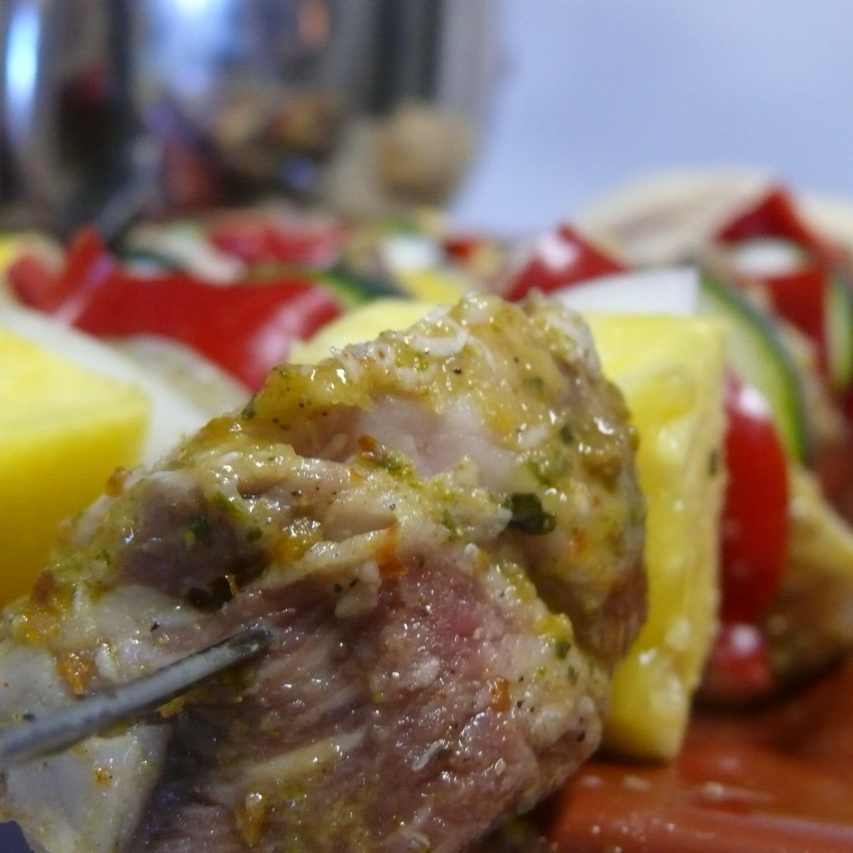 Chile and Lime Marinated Surf and Turf Kebabs