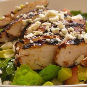 BBQ Chicken Salad with Apple Vinaigrette