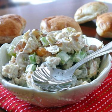 Almond, Cashew Chicken Salad on Ciabatta