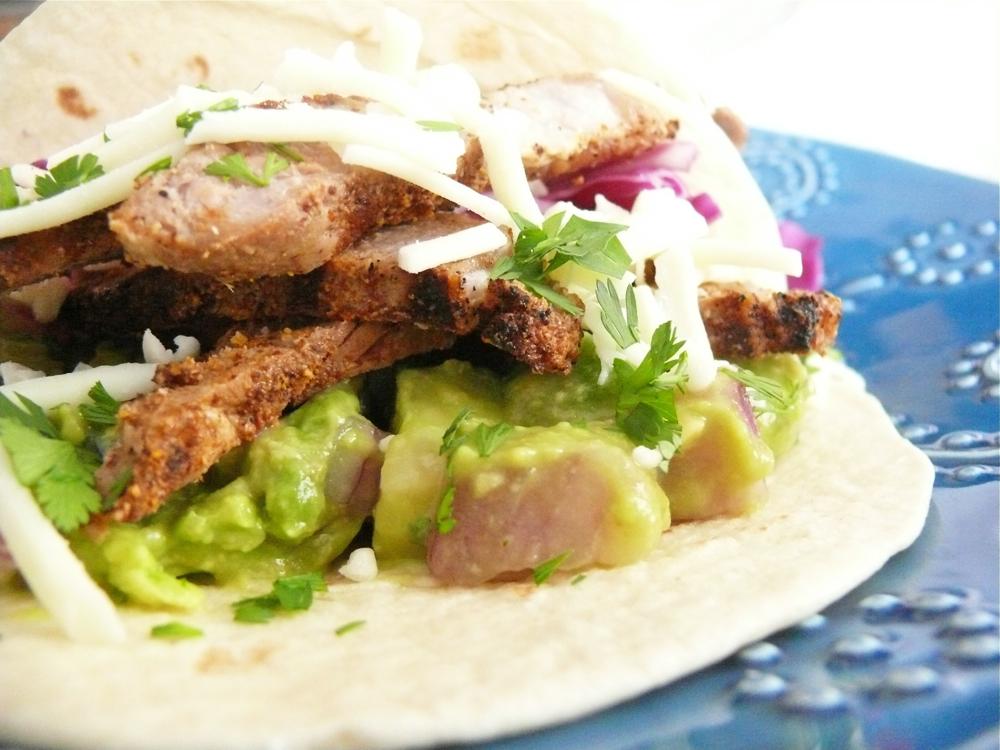Steak Tacos with Avocado & Cucumber Salsa