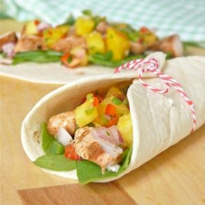 Grilled Chicken Tacos with Pineapple Salsa
