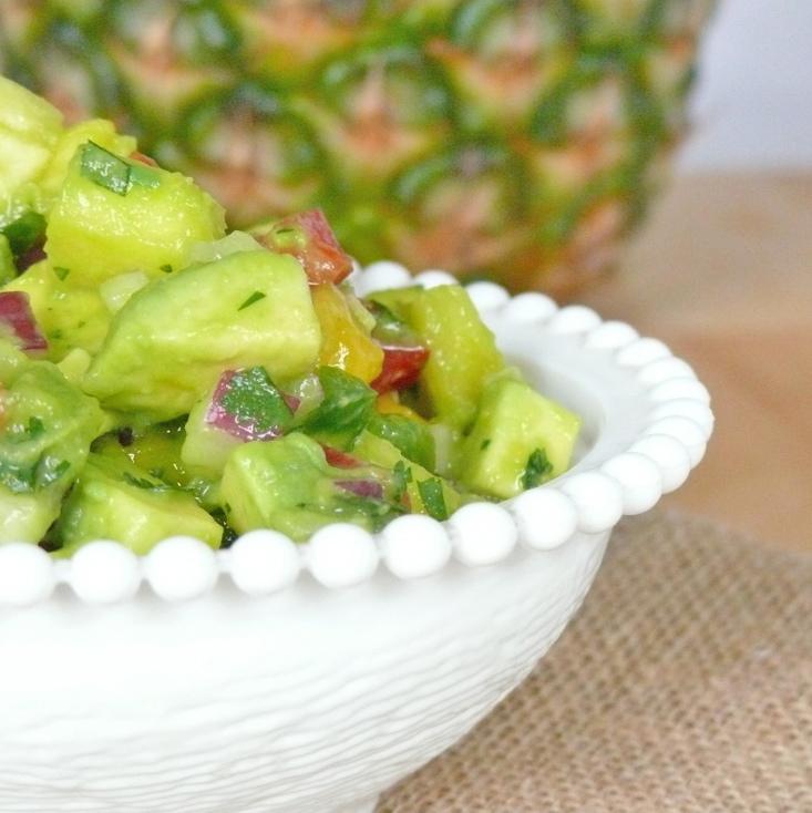 Avocado and tropical fruit salsa for Fruit salsa for fish