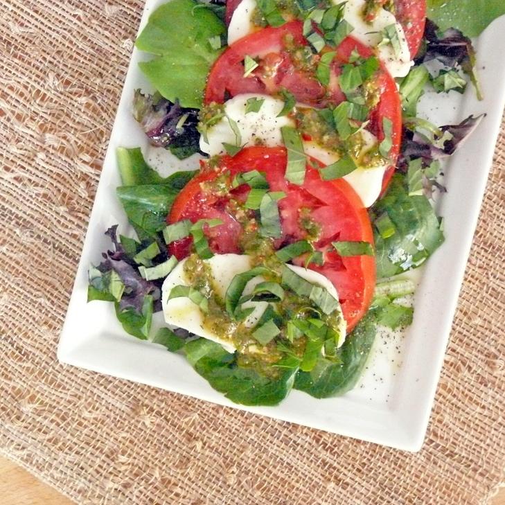 Caprese Salad with Fresh Chimichurri
