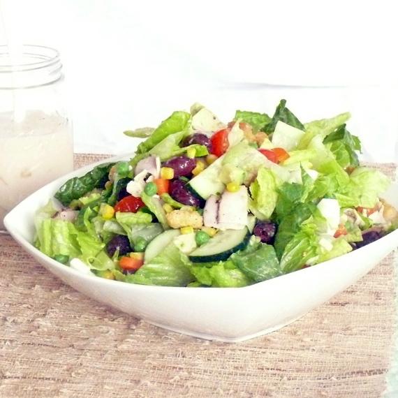 Chopped Salad with Garlic and Honey Vinaigrette