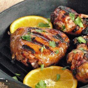Grilled Chicken with Habanero and Orange Glaze