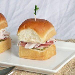 Mini Italian Sandwiches with Garlic Aioli