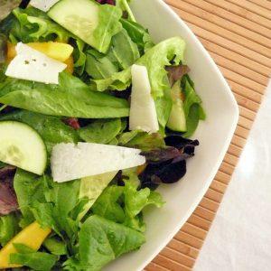 Fresh Peach Salad with Peach Vinaigrette