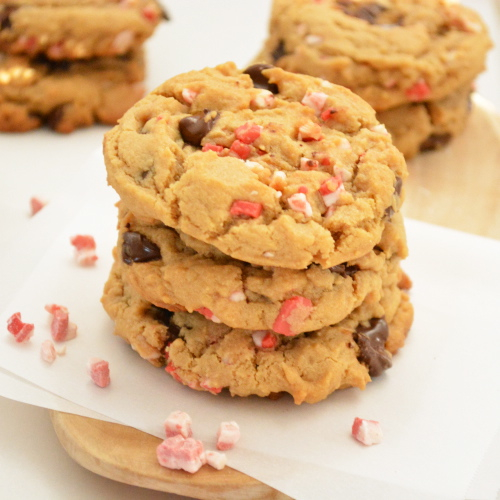 Peppermint and Biscoff Chocolate Chip Cookies