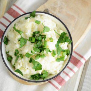 Turnip and Garlic Mashed Potatoes