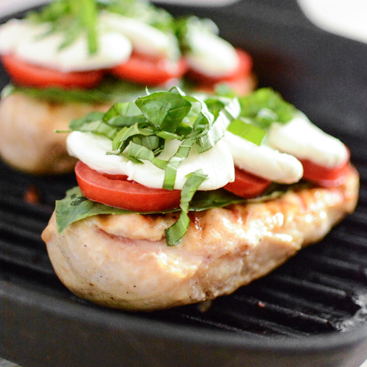 Easy Grilled Chicken Caprese
