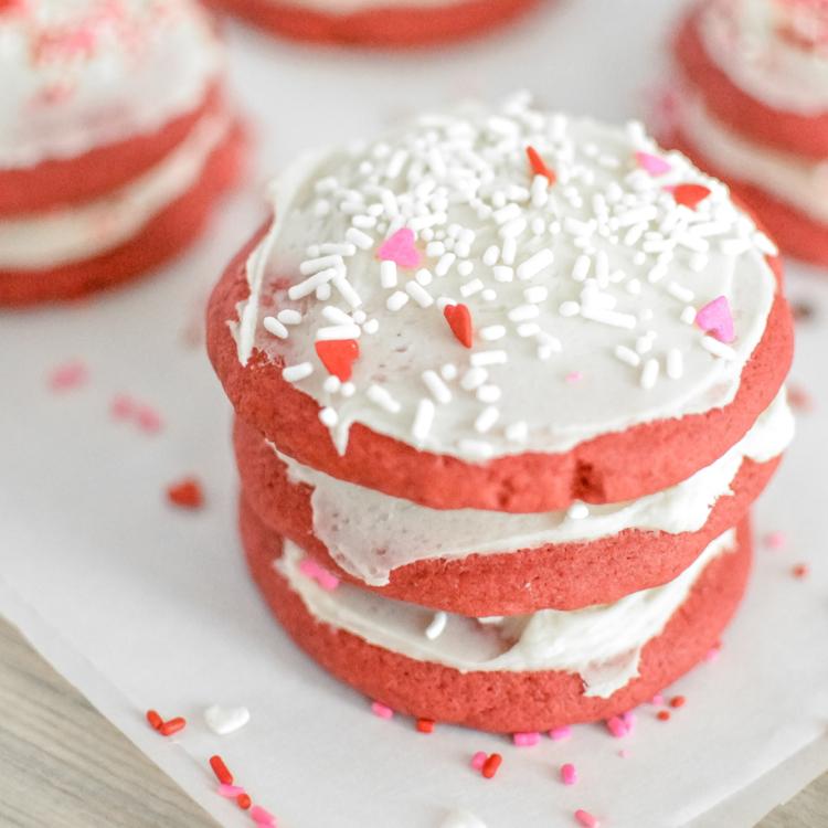 Red Velvet Soft Sugar Cookies