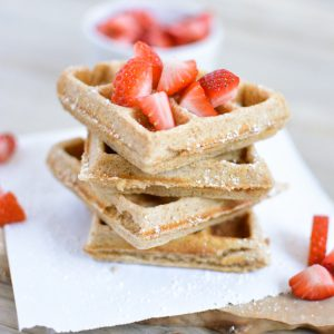 Whole Wheat Biscoff Waffles
