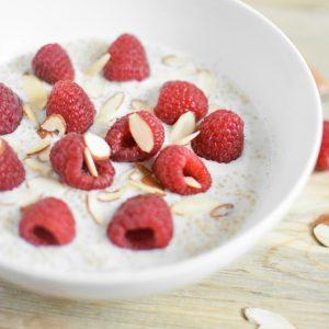 Raspberry Vanilla Almond Breakfast Quinoa