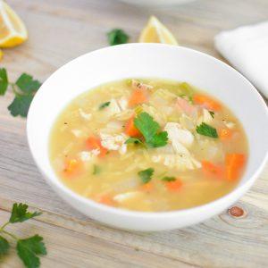 Chicken and Lemon Orzo Soup