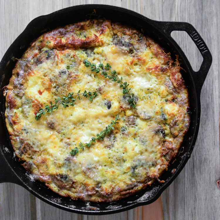 Sausage and Goat Cheese Frittata