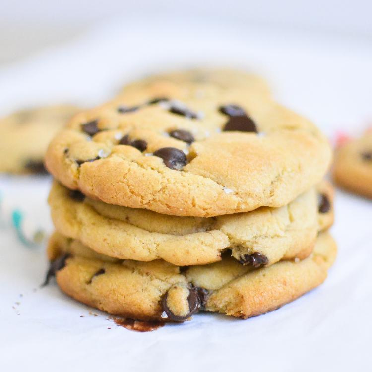 Sea Salt and Caramel Chocolate Chip Cookies