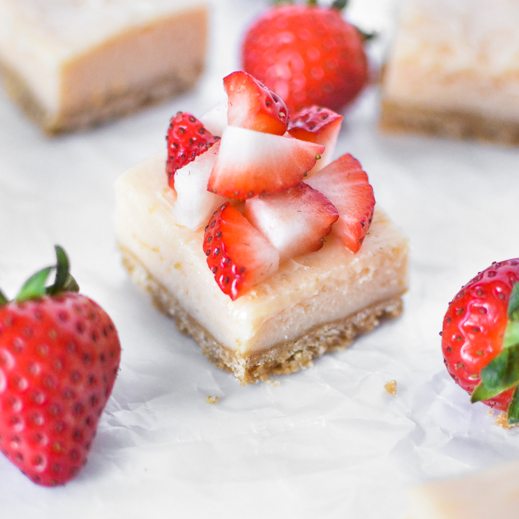 Strawberry and Lime Cheesecake Bars