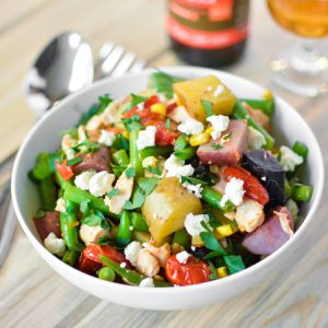 Green Bean Chicken Salad with Curry Vinaigrette