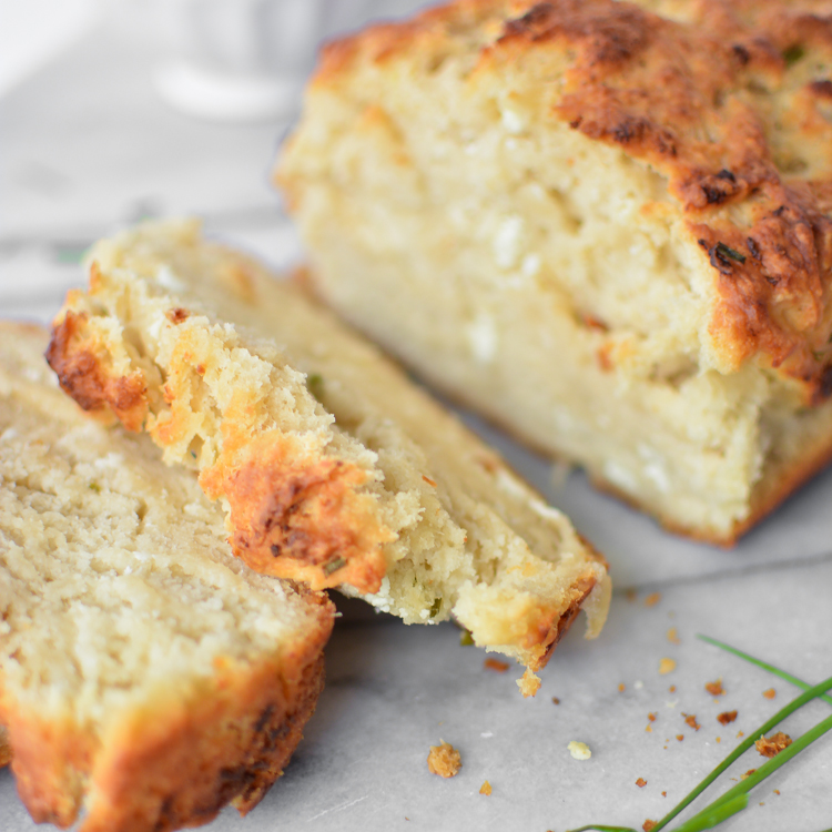 Goat Cheese and Chive Beer Bread + A New Site Design + A GIVEAWAY!