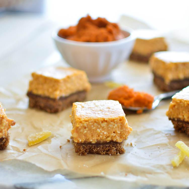 Ginger Pumpkin Cheesecake Bars