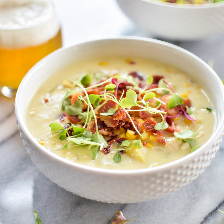 White Bean, Chicken and Corn Chowder