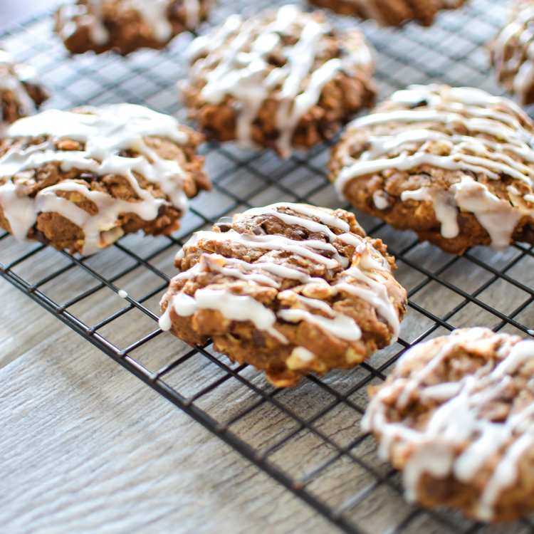Pumpkin Oatmeal Cookies with Hazelnuts and Coconut