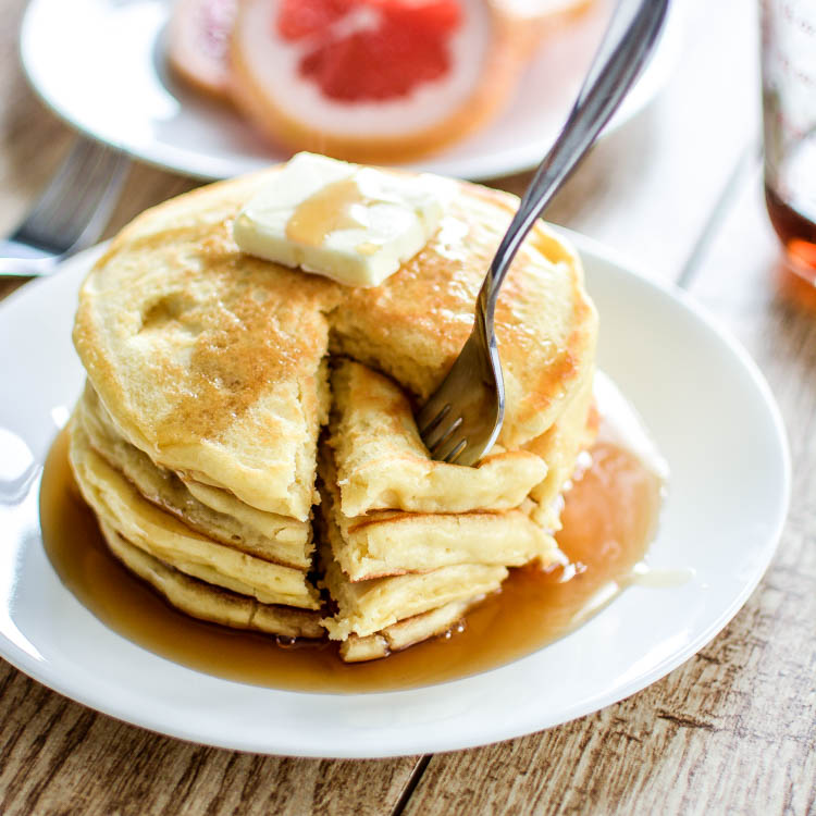 Grapefruit Greek Yogurt Pancakes