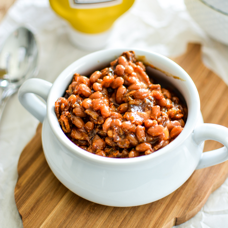 Slow Cooker Brown Sugar and Mustard Baked Beans PLUS a Slider and Hot Dog Bar for the Perfect Picnic