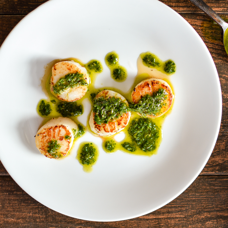 Seared Scallops With Lemony Farro And Arugula Salad Recipe ...