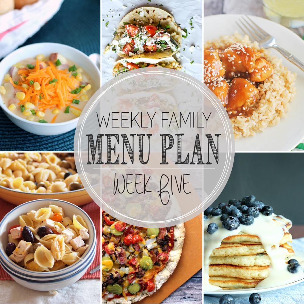 Weekly Family Menu Plan – Week Five