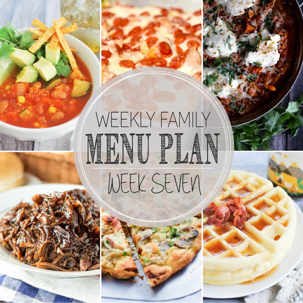 Weekly Family Menu Plan – Week Seven