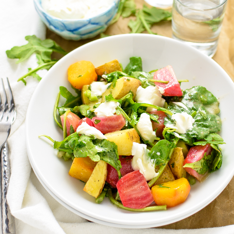 Maple Potato and Beet Salad