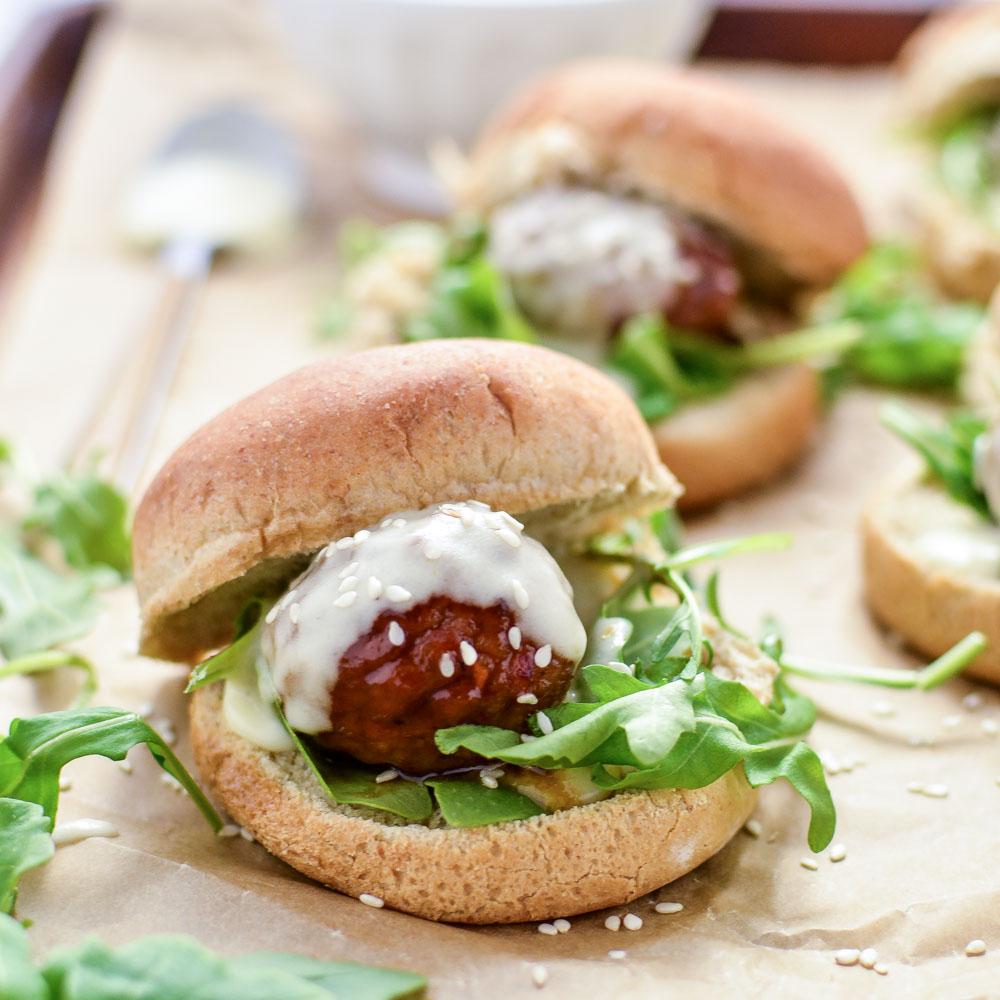Asian Meatball Sliders