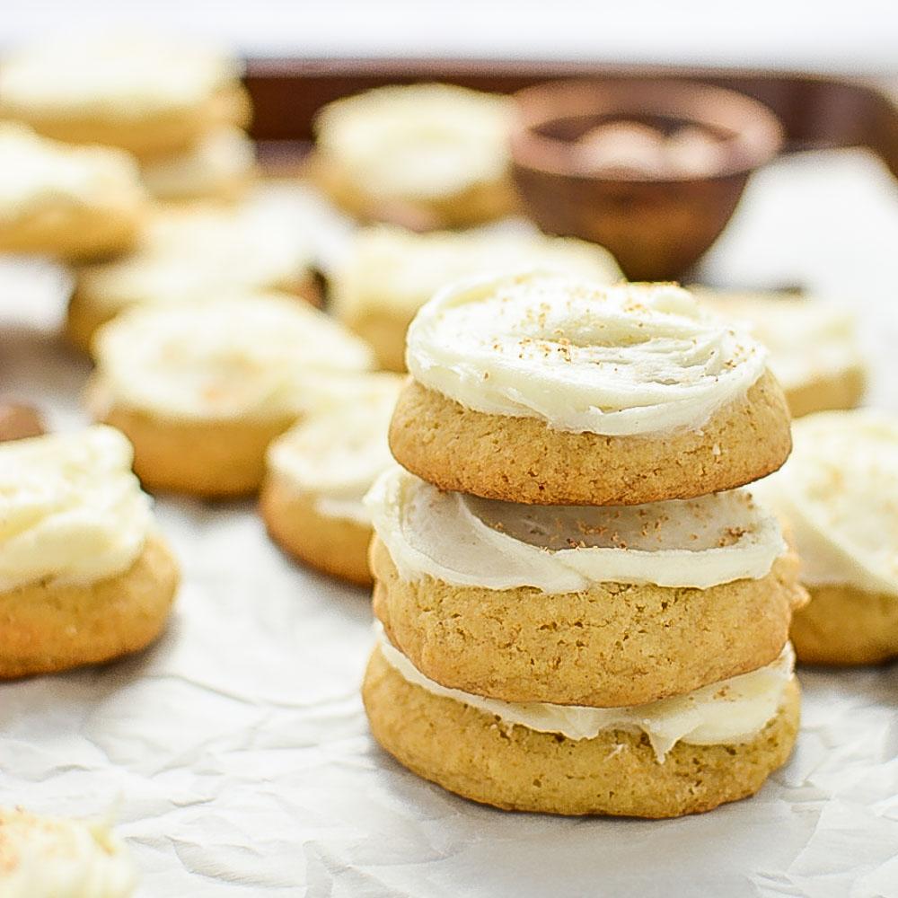 Brown Butter Eggnog Cookies