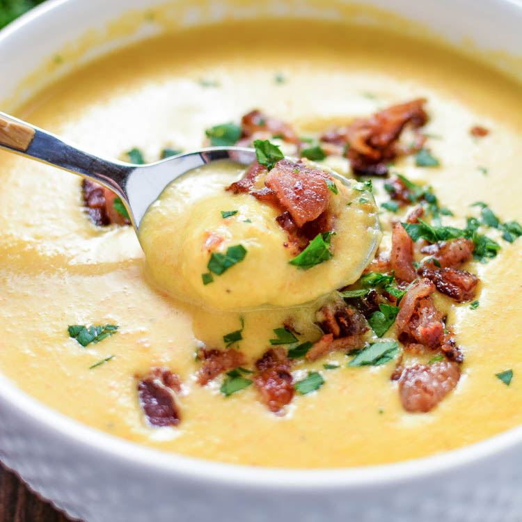 Creamy Beer Cheese Gnocchi Soup