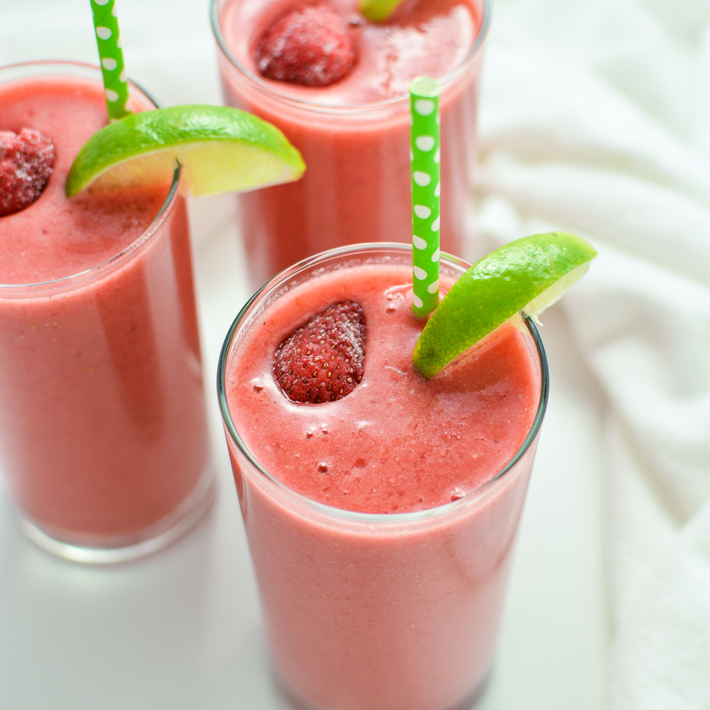 Smoothie Week: Triple Berry Limeade Smoothies