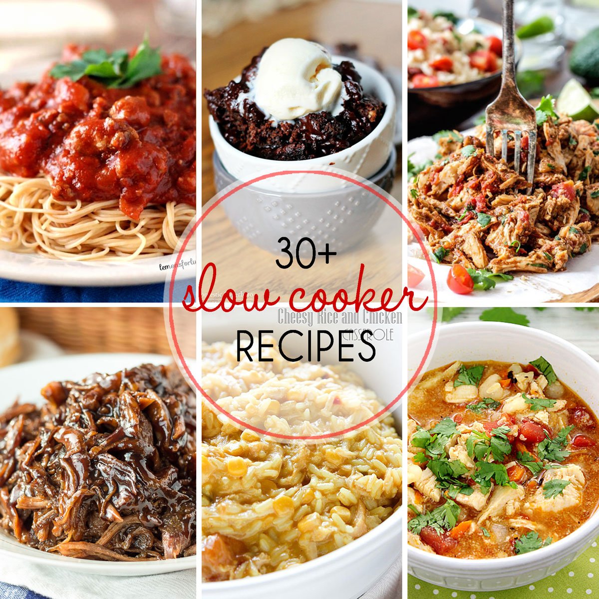 30+ Slow Cooker Recipes