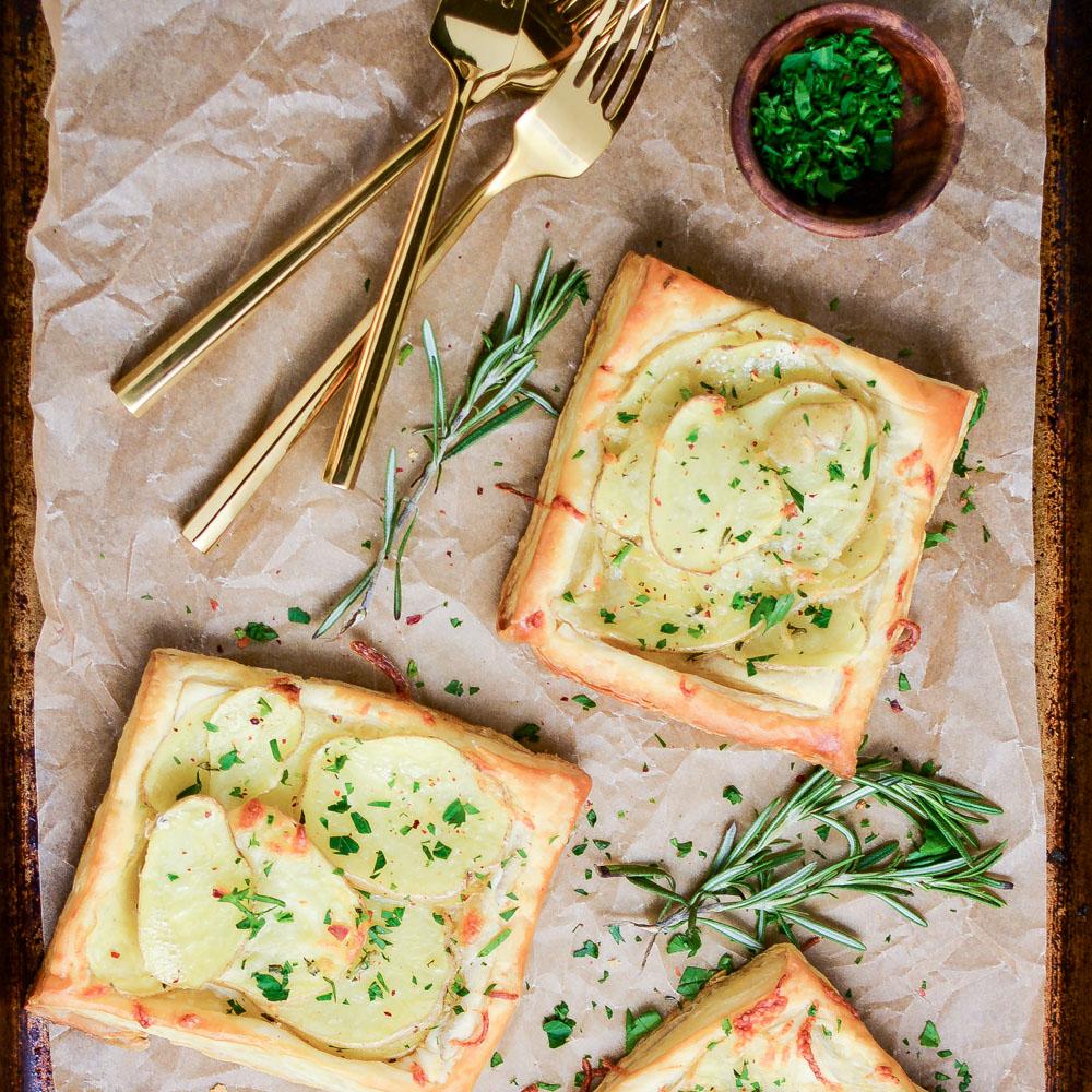 Brown Butter Potatoes Au Gratin Tarts