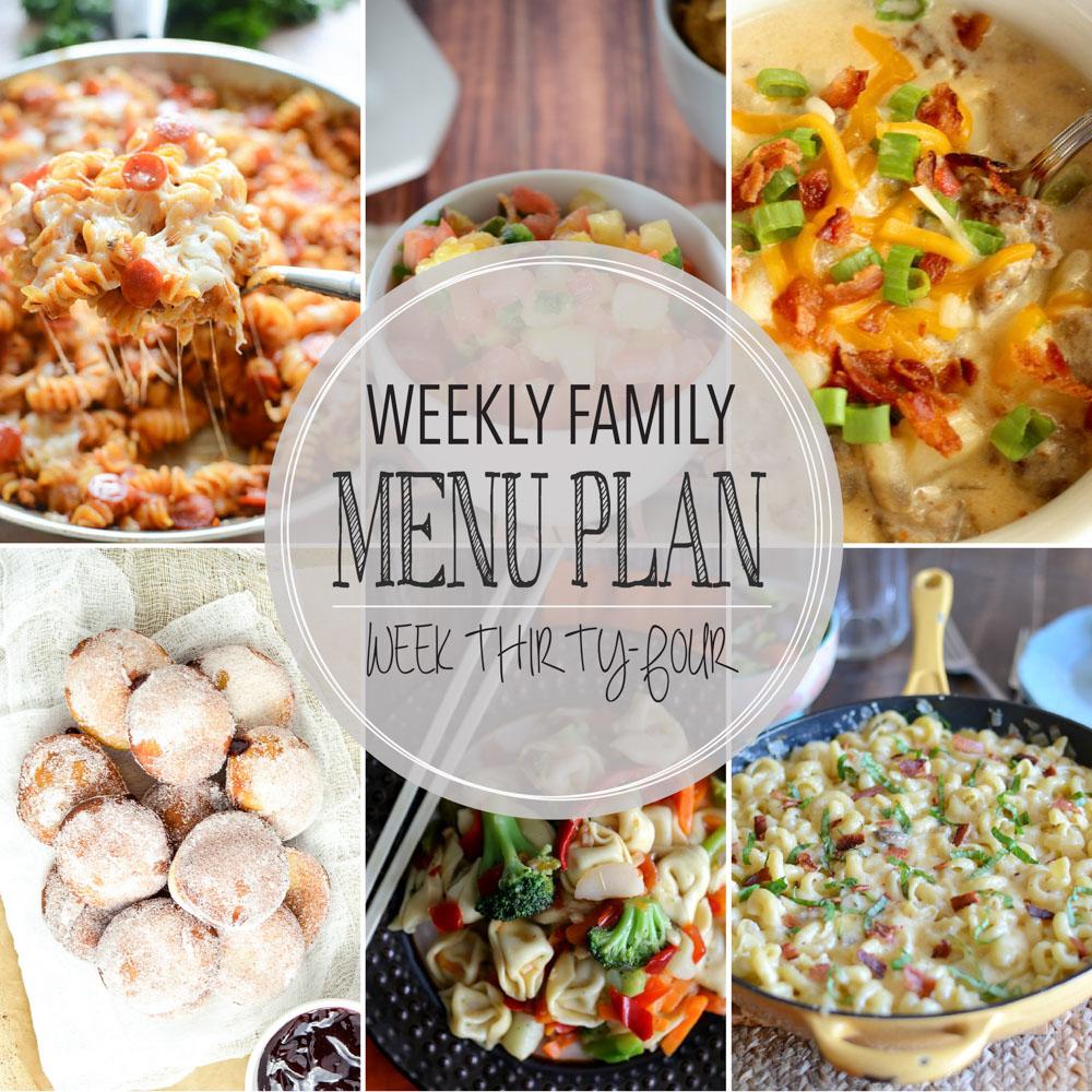 Weekly Family Menu Plan – Week Thirty-Four