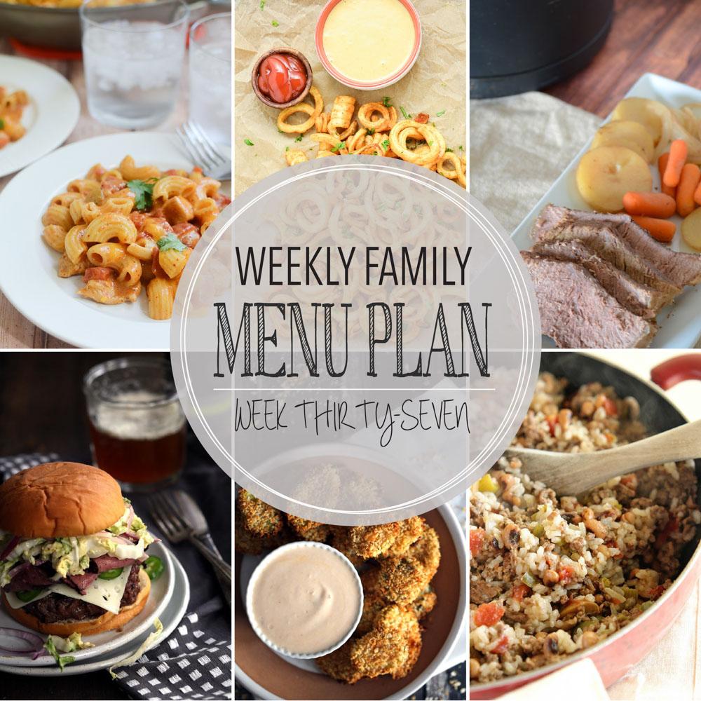 Weekly Family Menu Plan – Week Thirty-Seven
