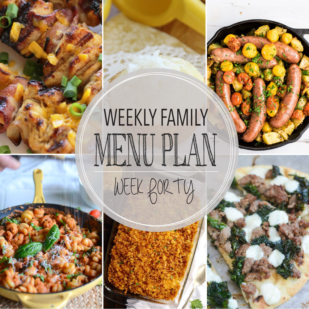 Weekly Family Menu Plan – Week Forty
