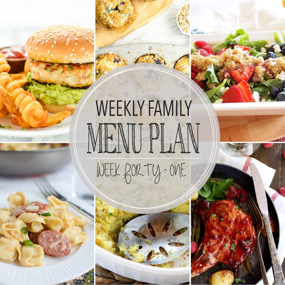 Weekly Family Menu Plan – Week Forty-One