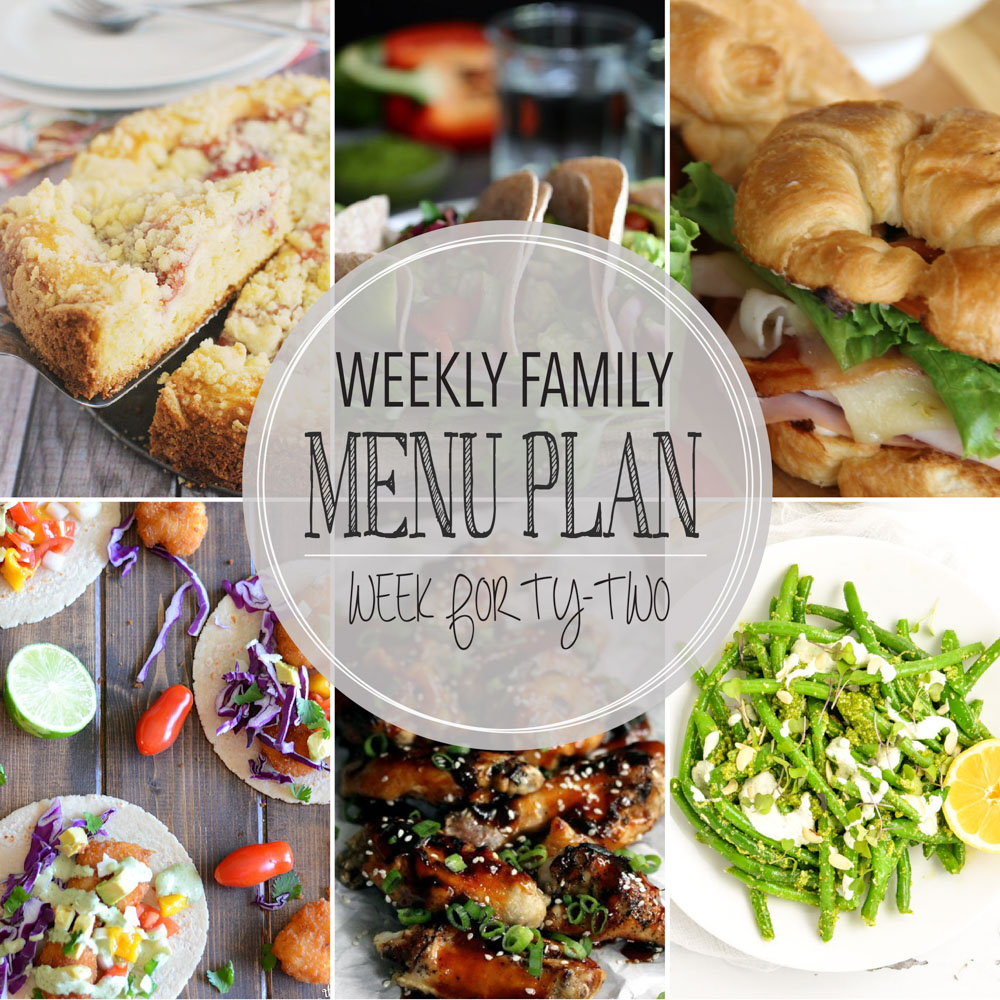 Weekly Family Menu Plan – Week Forty-Two