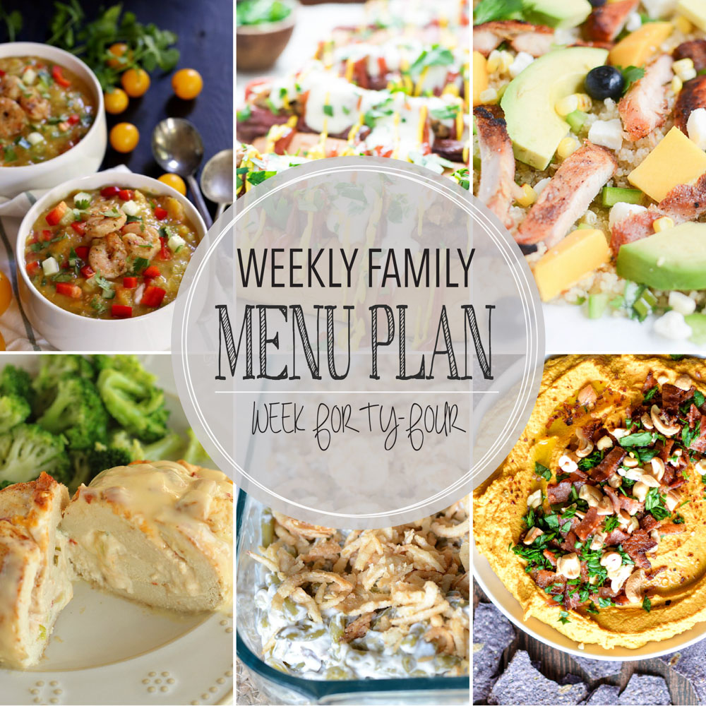 Weekly Family Menu Plan – Week Forty-Four
