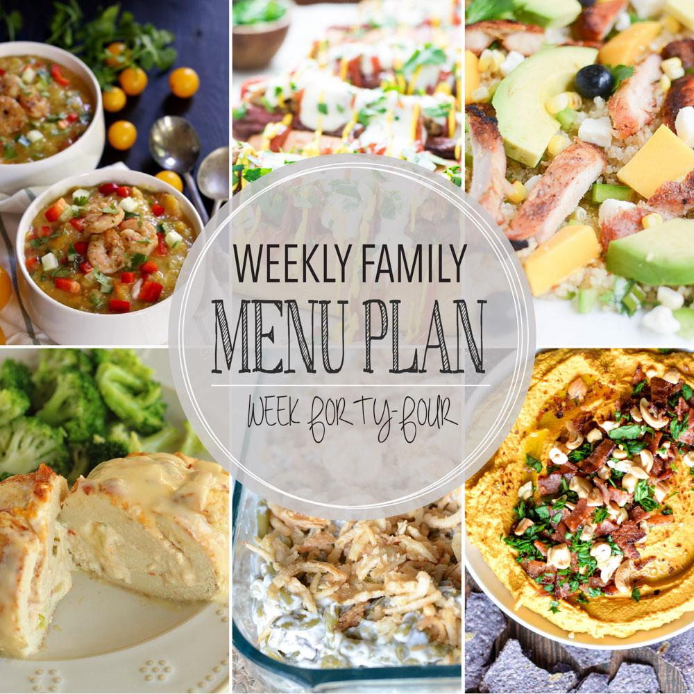 Weekly Family Menu Plan – Week Forty-Four