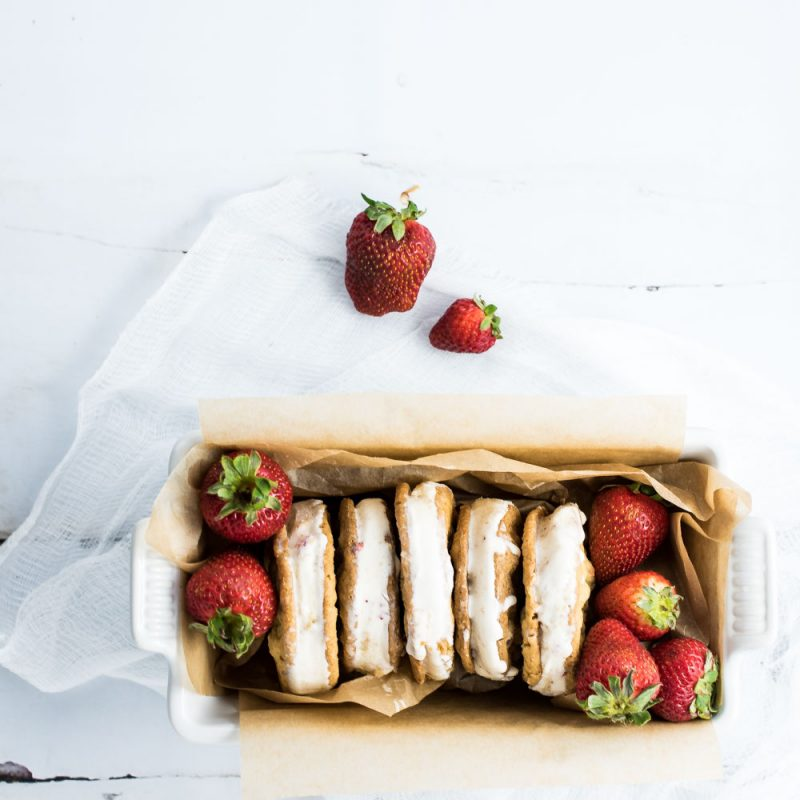 Strawberry Ice Cream Sandwiches