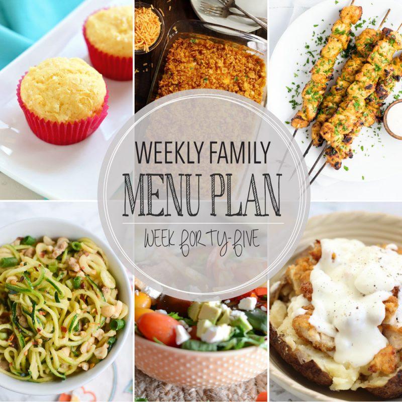 Weekly Family Menu Plan – Week Forty-Five